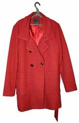 Новое демисезонное пальто AMISU (New Yorker),  цвет бордовый,  размер 52