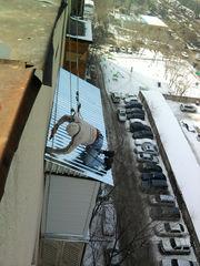 ремонт кровли балконного козырька