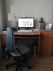 компьютерный стол+тумба (Польша) + стул