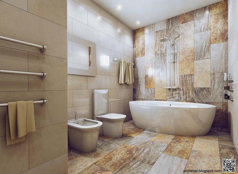 интерьера. Ванна в современном стиле