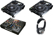 NEW PIONEER CDJ-2000 Nexus PAIR CD PLAYER AND DJM-2000 Nexus DJ MIXER.
