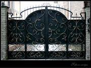 ворота красивые кованые откатные и распашные