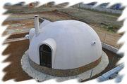 купольные дома, сферические дома. Dome hause Технология, линия