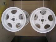 Пескоструй  дисков и других деталей.  Порошковая(полимерная) окраска.