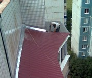 Ремонт,  установка балконного козырька в алматы