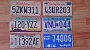Декоративные автомобильные номера