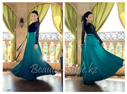 Длинное платье в пол с гипюром