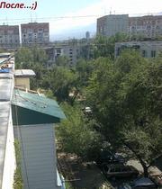 Установка крыш,  балконов. Ремонт балконных козырьков в Алматы