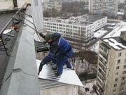Монтаж балконного козырька,  устранение течи с козырька в Алматы