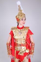 Казахские женские стилизованные костюмы воинов на прокат в Алматы