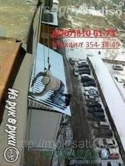 монтаж балконного козырька