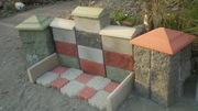 Сплитерные блоки. Брусчатка. Бордюры. Бетонные блоки. Тротуарные плитки