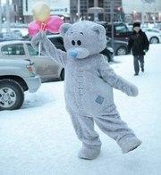 Впервые в Алматы! Оригинальное поздравление от Мишки Тедди!