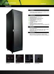 Шкаф напольный 22U,  600*800*1200  дверь перфорированная