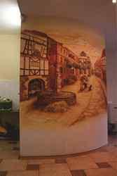 Роспись стен,  барельеф