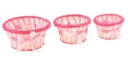 Комплект корзинок декоративные Красные с бантом 46321