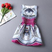 Платье женское жаккард голубой кот 1112023