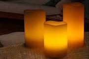 Набор из трех Лед свечей на пульте 46206.