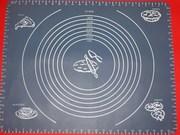 Силиконовый коврик большой для раскатки теста 43067.