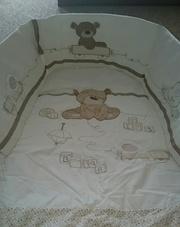 Комплект постельного белья с бортиками в манеж