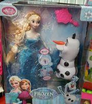 Кукла Эльза в комплекте со снеговиком копилкой Олаф музыкальной 46395