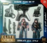 Игровой набор солдатики полицейские с оружием 36401