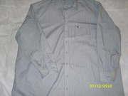 Рубашка светло-серая в полоску