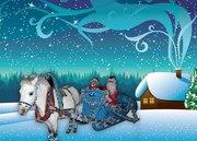 Новогодние сани с лошадкой