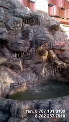 Водопады,  альпинарии,  ручьи,  гроты,  настенная живопись в интерьере