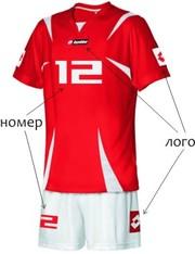 Спортивные формы(номера, логотипы, имена на ваши изделия)