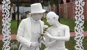 Живые статуи на встрече гостей от TESLA Art Lab
