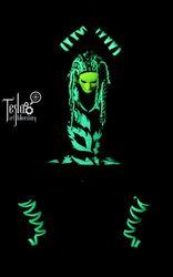 Световое шоу в ультрафиолете Alfa от TESLA Art Lab