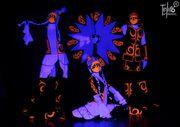 Световое шоу в ультрафиолете