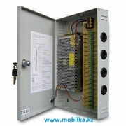 Блок питания для систем видеонаблюдения в металлическом ящике (AC 100~