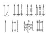 Фундаментные болты,  анкерные  шпильки,  стяжные болты