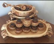 Цех изготавливает из белой Ивы посуды