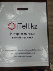 Печать на полиэтиленовых пакетах , логотипы, надписи