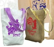 Пошив сувенирных мешочков, логотипы, надписи