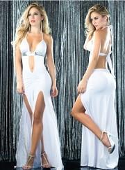 Шикарное белоснежное платье