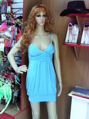 голубое новогоднее платье