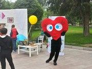 Аниматор,  ростовая кукла Сердце,  услуга в Алматы