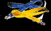 Печать на ленточках для бейджей(ланьярдах), логотипы, надписи