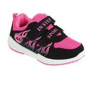 Кроссовки детские для девочки Спорт розовые с черным 46758