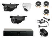 Продам комплект готового видеонаблюдения на 3 камеры...
