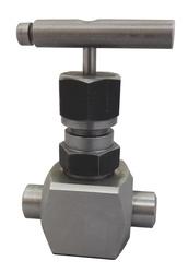 Клапан запорный игольчатый Ду15,  Ру 40МПа,   муфта-муфта(аналог 15с67бк