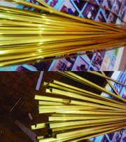 Кайма (рамки) золото 8 мм 2, 4 метр