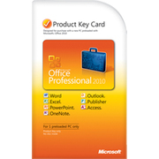 Microsoft office 2010 Professional key Kard
