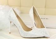 Свадебные туфли с блесками