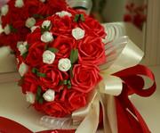 Свадебный букет красный