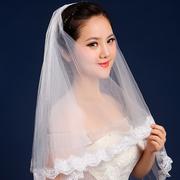 Свадебная фата с кружевом 135 см